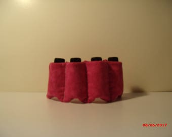 Pretty pink, padded Essential Oil and Nail Polish holder.