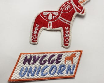 Hygge Unicorn - Scandinavian Horse - Patch Set - Scandinavian Lifestyle - Scandinavian Nordic Design