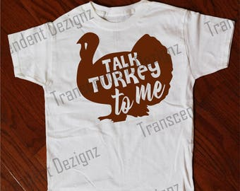Talk Turkey To Me Kids Thanksgiving Shirt