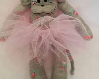 CE marked Sock monkey floral grey