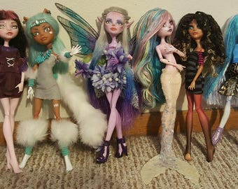 CUSTOM ORDER OOAK Monster High Doll Barbie Bratz Ever After High My Little Pony Etc Made To Order Faerie Kitsune Cat More Clothing Face-up