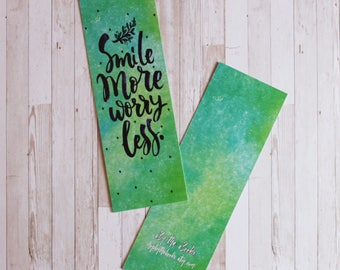 Smile More, Worry Less | Bookmark