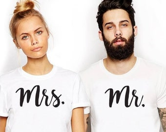 Mr and Mrs shirts just married shirts honeymoon shirts couple tshirt Mr and Mrs couple shirts wedding gift engagement gift honeymoon shirts