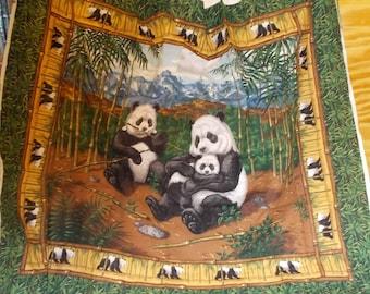 Panda Bear Quilt Panel by Cranston Village - Free Shipping