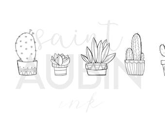 Cactus Print | Hand Drawn Portrait
