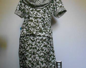 LESLIE  FAY  women's two piece safari dress Petite Collection size 8