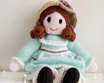 Emily Knitted Handmade Doll