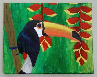 Hand Painted Tucan 8x10