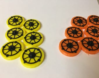 Handful of Stars - 4 Colored set of Starbase Tokens