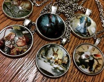Alice in Wonderland Pendant Necklaces