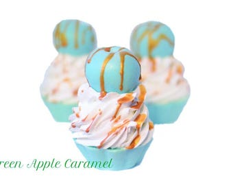 Green Caramel Apple - Artisan Soap Cupcake