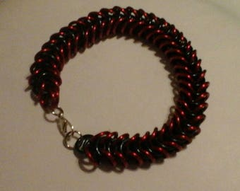 Red and Black Boxchain Bracelet