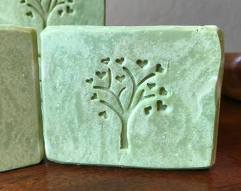 Shamrock - Artisan Handmade Soap Bar  Grass & Clover Scent - A whole lot of Luck o' the Irish - Bath Body Handcrafted Soaps