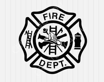 Maltese Cross SVG- Fire Dept logo -Firemen - svg, dxf, eps, png, Pdf - Download - Cut File, Clipart - Cricut Explorer - Silhouette Cameo