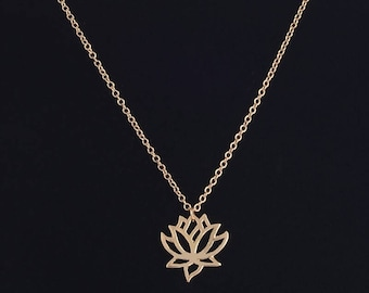 Lotus Flower Pendent Necklace
