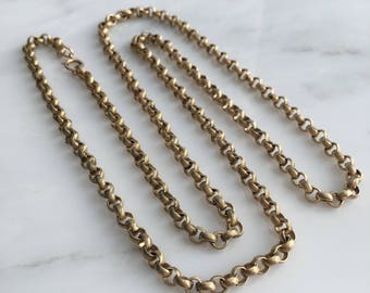 """Victorian 12K Gold Filled 29"""" Chain"""