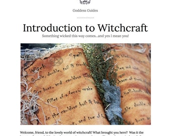 Introduction to Witchcraft Ebook and Initiation Ritual