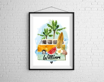 Custom poster Westfalia Surf