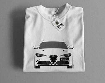 T-shirt Alfa Romeo Giulia Quadrifoglio, Veloce | Gent, Lady and Kids | all the sizes | worldwide shipments | Car Auto Voiture