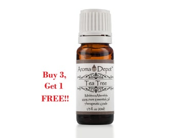 Tea Tree Essential Oil 100% Pure, Undiluted, Therapeutic Grade. Buy 3, Get 1 FREE!!!