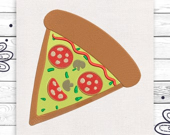Pizza embroidery Food Discount 10% Machine embroidery design 4 sizes INSTANT DOWNLOAD EE5086
