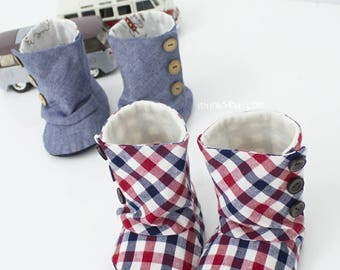 94 Toddler 3 Button Boots PDF Sewing Pattern Size 5,6,7