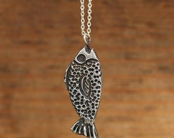 Silver Necklace 925. Handmade single piece.
