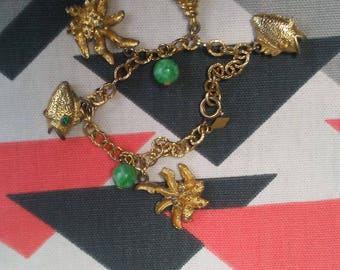 Vintage Tropical Charm Bracelet