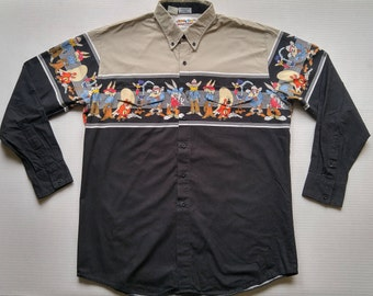 Looney Tunes Western Button Up by Karman