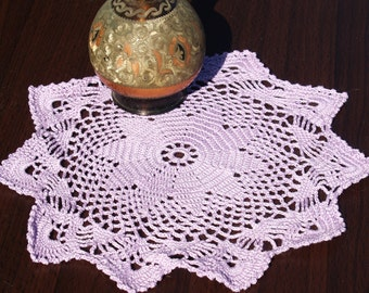 Delicate, Pink, Handmade Lace Doily, Chic, Trendy, Stylish Home Decor, Beautiful, Elegant, Must Have
