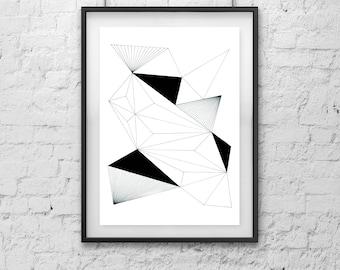 Physical Print ///  Geometric Art 1