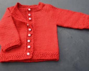 Baby jacket knitted