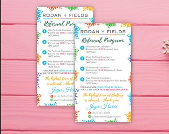 Rodan and Fields Referral Program, Custom Rodan and Fields Referral Program, Custom Rodan and Fields, Printable RF RF01