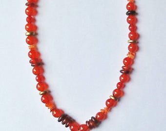 Chinese Zodiac and carved agate OX necklace