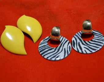 Earring Set  Pierced Earrings  Beautiful Vtg Earring Lot