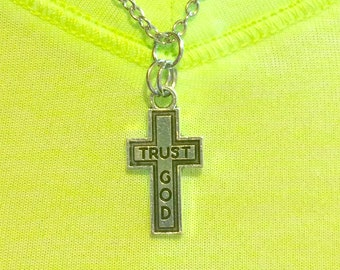 Trust God Cross Necklace