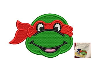 Ninja Turtle Embroidery Design - 2 sizes instant download