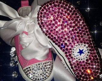 Swarovski Encrusted Baby Soft Shoes