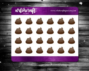 Poop Icon Stickers  ||  MINI SHEET