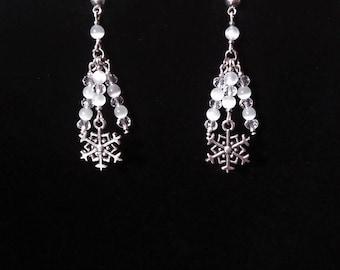 Christmas snowflakes earrings