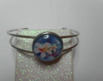 Bronze flower Cuff Bracelet / party/gift thanks /noel /anniversaire/