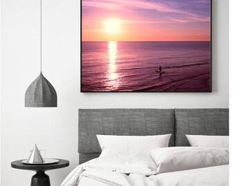 Ocean Sunrise Print, Ocean Sunrise Photo, Ocean Wall Art, Purple Photo, Ocean Print, Sunrise Print, Digital Download, Ocean Photography