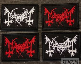 Patch Mayhem logo black metal