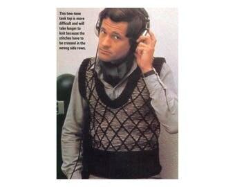 Diamond Pattern Vests Knitting Pattern