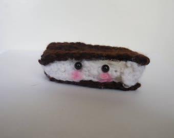 Crochet Ice Cream Sandwich