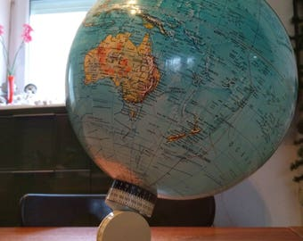 world map - scan globe Earth vintage