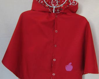 Reversible red T4 years Cape 100% cotton