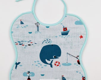Small bib 0-6 months sailor Timéo collection