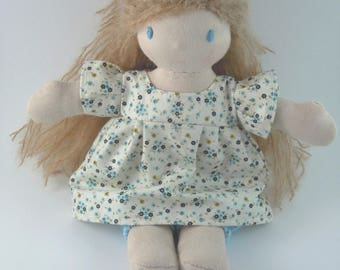 Blond fabric Waldorf doll - Clea