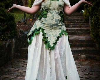 poison ivy cosplay costume alternative women's clothes dress gown custom